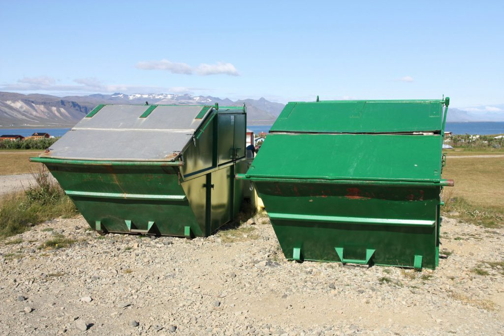 rental dumpsters ready for services